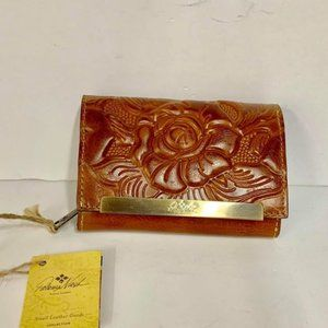 Patricia Nash CAMETTI GOLD Rose Women's Wallet